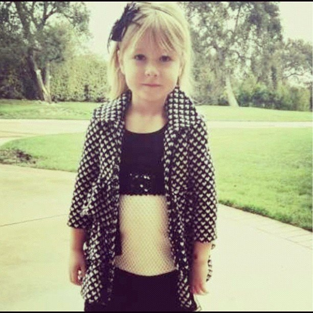 Tori Spelling showed off her budding fashionista, Stella. Source: Instagram user torianddean