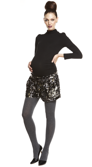 More of Me Maternity Sequin Tap Shorts