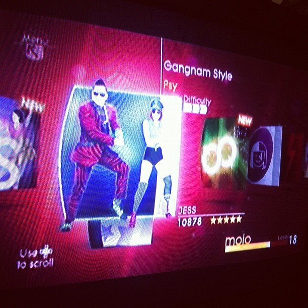 In true entertainment editor form, Jess downloaded Gangnam Style on Wii Just Dance 4.