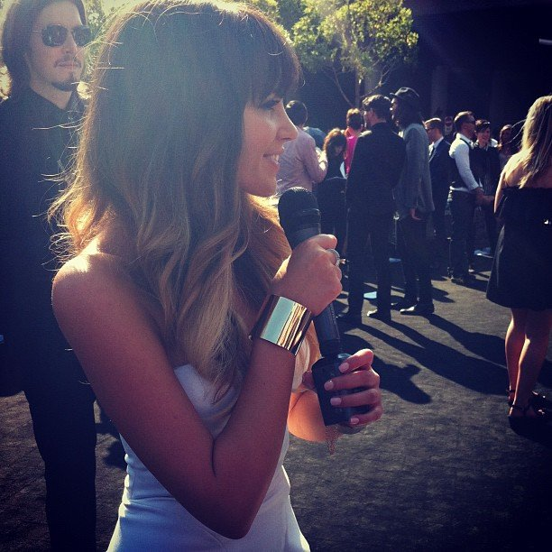 The X Factor Australia winner Samantha Jade looked stunning on the red carpet at the ARIAs. And, we're happy to report, still so lovely in person.