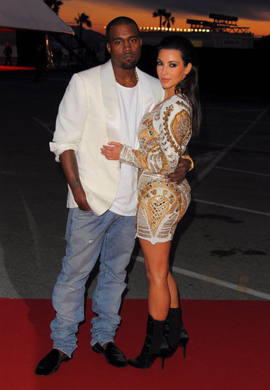 Kim Kardashian and Kanye West posed together at the Cannes Film Festival in May 2012.