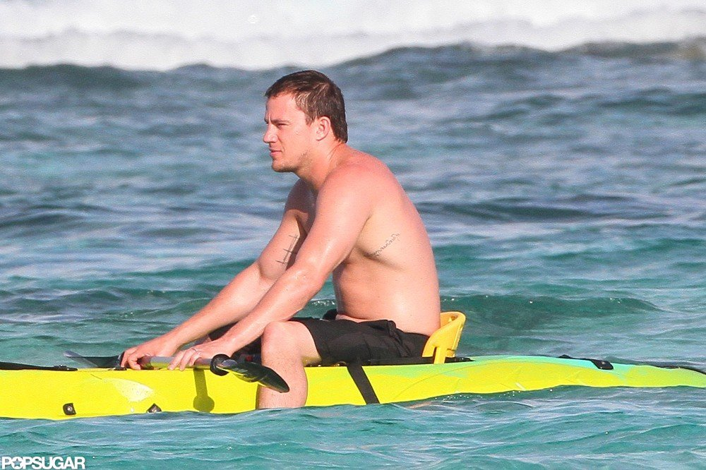 Channing Tatum hit the waves.