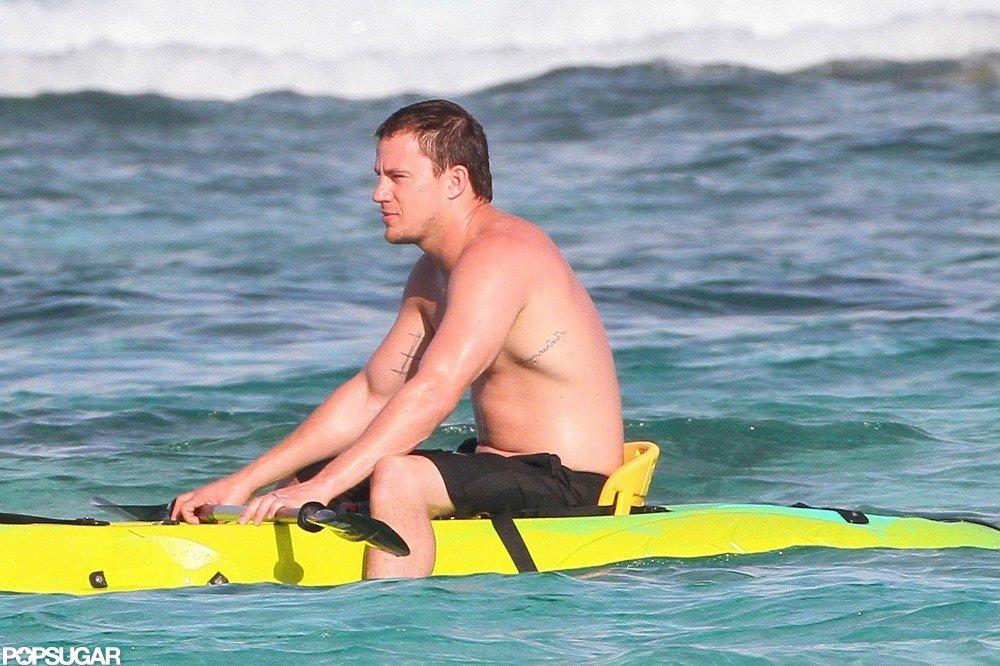 Channing Tatum hit the waves.