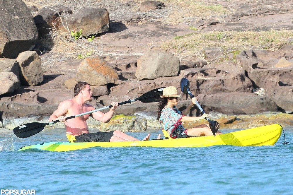 Channing Tatum and Jenna Dewan hit the water.