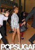 Beyoncé Knowles wore a floral outfit.