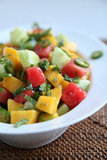 Cucumber, Watermelon, and Mango Salad