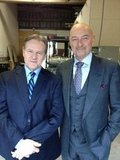 Terry O'Quinn posed with Bill Sadler, his 666 Park Avenue guest star. Source: Twitter user OQuinnTerry