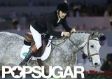 Guillaume Canet rode a horse in the Paris Masters.