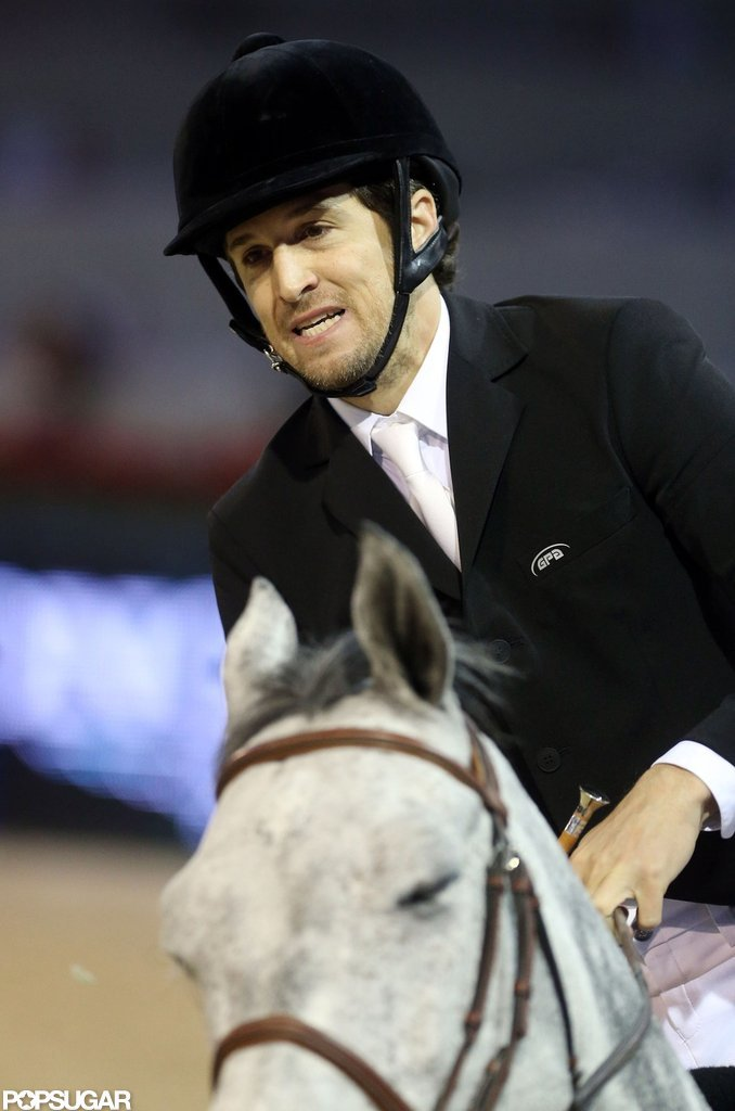 Guillaume Canet hopped on a horse for the Paris Masters.