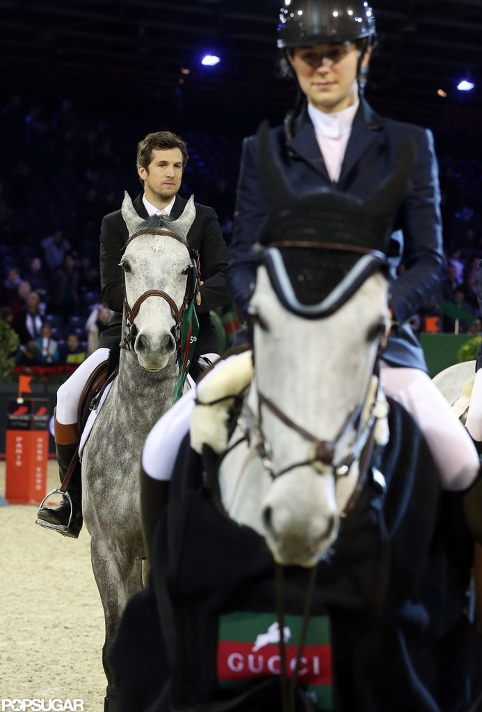 Guillaume Canet was on his horse at the Paris Masters.