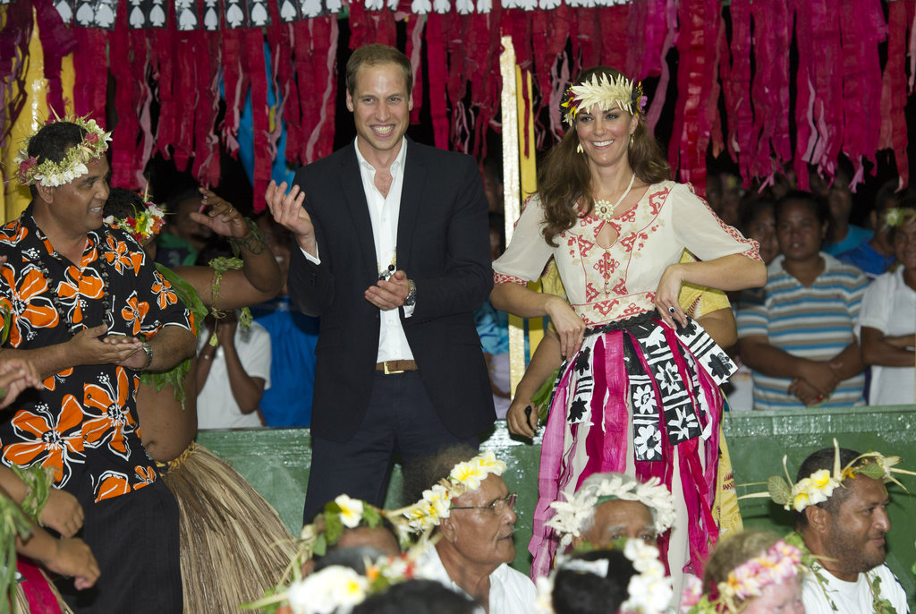 William and Kate danced in Tuvalu in September 2012.