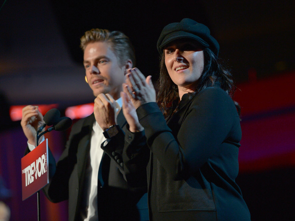 Derek Hough and Ricki Lake were on stage at the benefit in LA.
