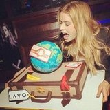 Doutzen Kroes celebrated at a Dance4Life event with a giant cake. Source: Instagram user doutzenkroes1