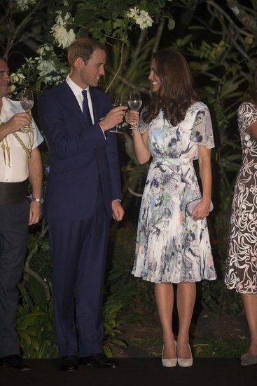 In September 2012, Prince William and Kate Middleton toasted during their tour of South East Asia.