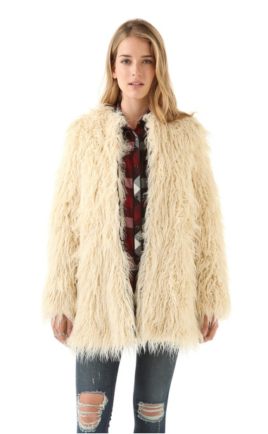 Don't get us wrong; this Shine Zulma Faux-Fur Coat ($351, originally $502) is a statement piece, but will look so awesome over an LBD.