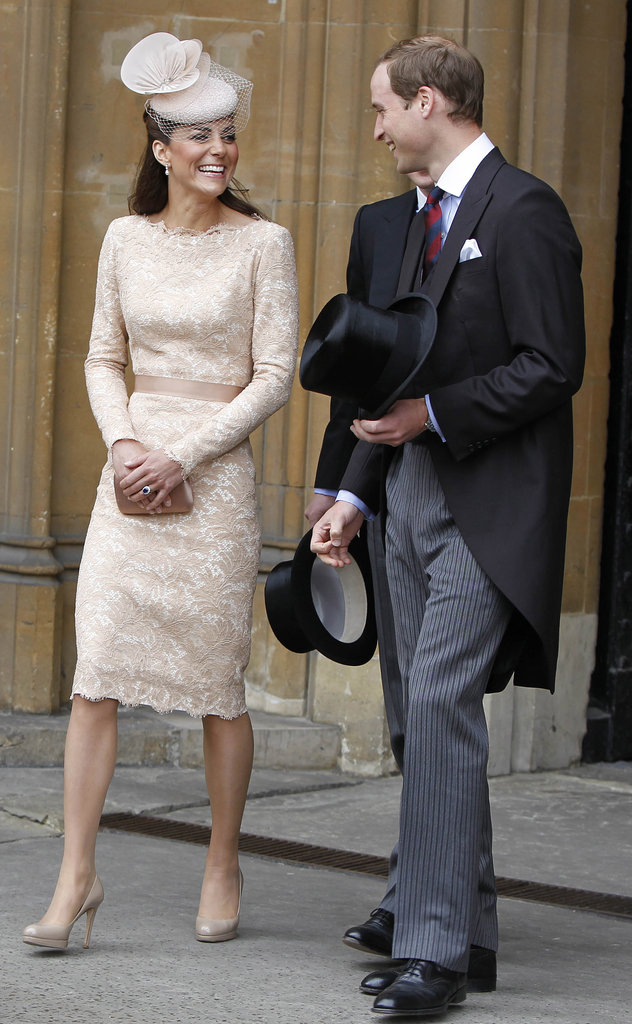 Looking every inch the perfect British style icon, she picked a demure lace sheath for a Diamond Jubilee luncheon in early June 2012.