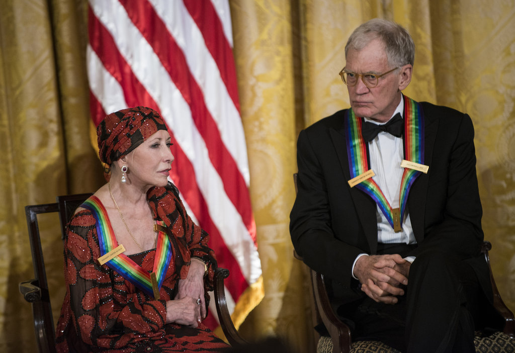 Honoree and former prima ballerina Natalia Makarova sat beside late-night host David Letterman.