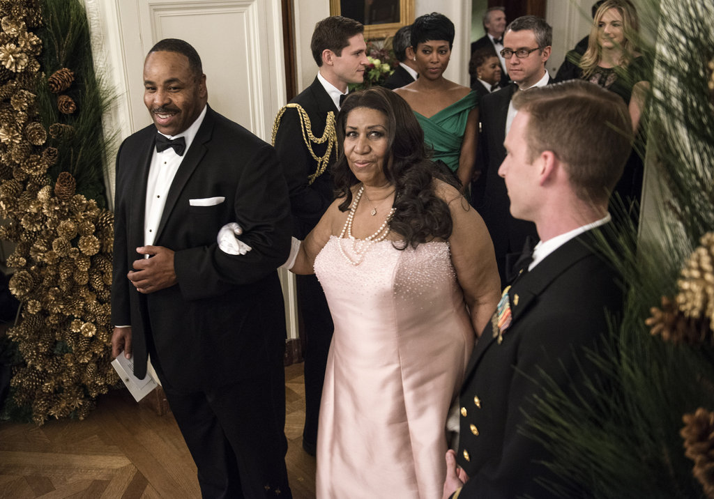 Aretha Franklin arrived at the Kennedy Center Honors.