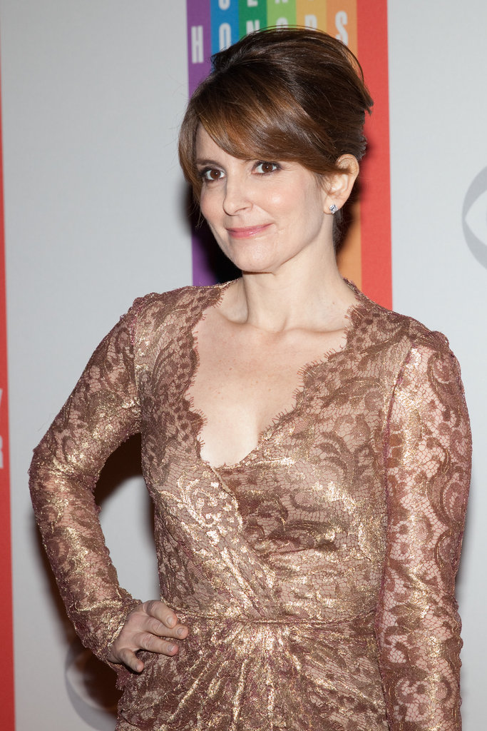 Tina Fey wore gold for the festivities.