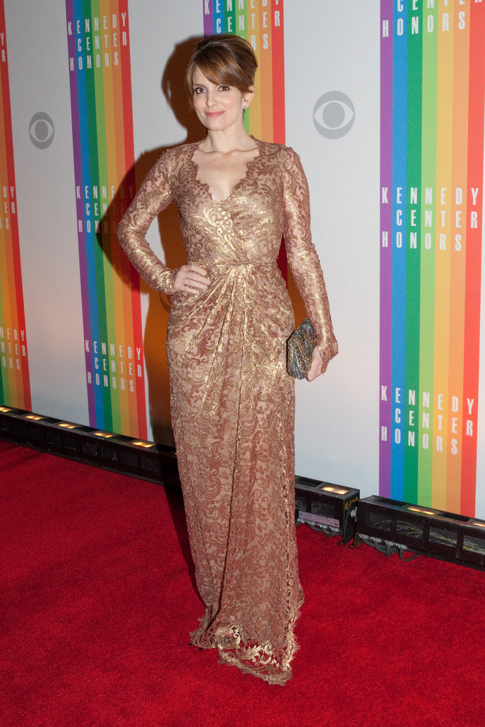 Tina Fey arrived at the Kennedy Center Honors.