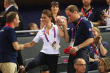 Will helped Kate keep her balance during the 2012 Olympics.