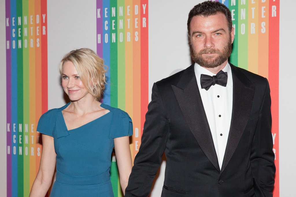 Naomi Watts and Liev Schreiber arrived at the Kennedy Center.