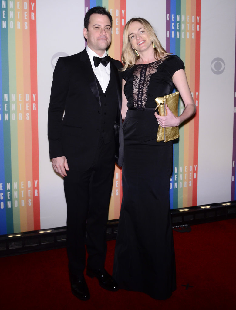 Presenter Jimmy Kimmel got close to wife Molly McNearney at the Kennedy Center.