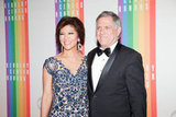 Leslie Moonves arrived with his wife, Julie Chen.
