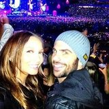Ricki-Lee Coulter and her boyfriend Rich Harrison were among the 50,000+ strong crowd at Coldplay's Sydney concert in November. Source: Twitter user therickilee