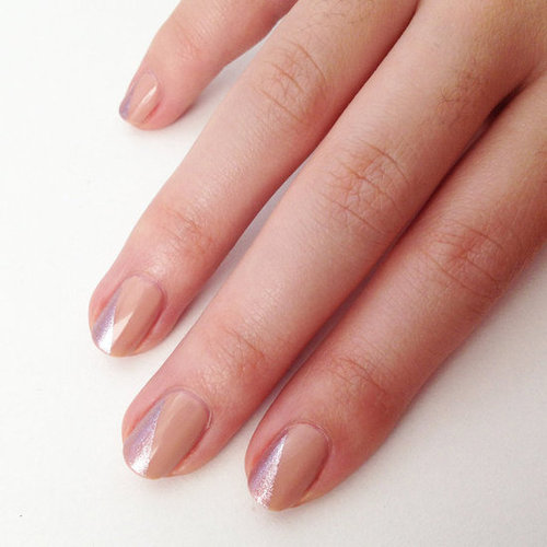 DIY Nude and Metallic Nail Art Using Mac Nail Polish