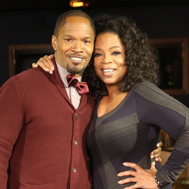 Oprah interviewed longtime friend Jamie Foxx, whose film Django Unchained is opening soon. Source: Instagram user oprah