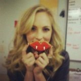 The Vampire Diaries' Candice Accola wishes her fangs were for real. Source: Instagram user candiceaccola