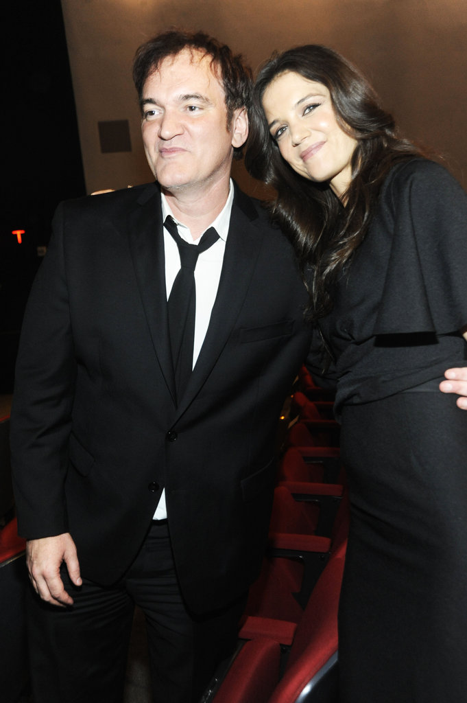 Katie Holmes and Quentin Tarantino smiled together in NYC.