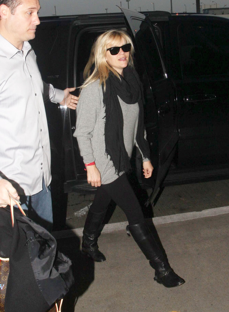 Reese Witherspoon traveled in style.