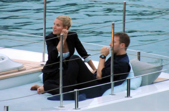Gwyneth Paltrow and Chris Martin logged time on a yacht in September 2012 as she celebrated her 40th birthday in Italy.