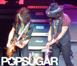 Johnny Depp got on stage at the Aerosmith concert in LA.