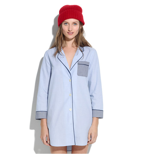 OK, so it's not hit-you-over-the-head sexy, but this Madewell Bedtime nightshirt ($68) has a lot of potential.
