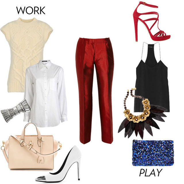How to Wear Red Pants to Work 2012