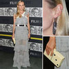 Diane Kruger in Prabal Gurung Sheer Gray Dress (Pictures)