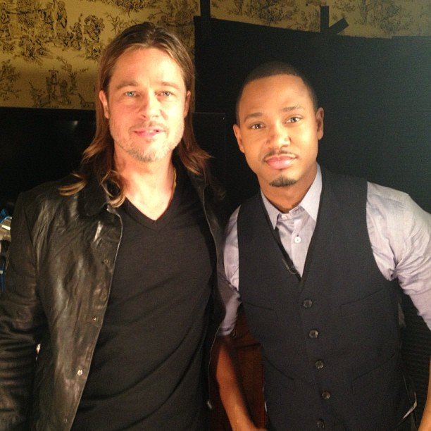 Terrence J. interviewed Brad Pitt. Source: Twitter user TerrenceJ