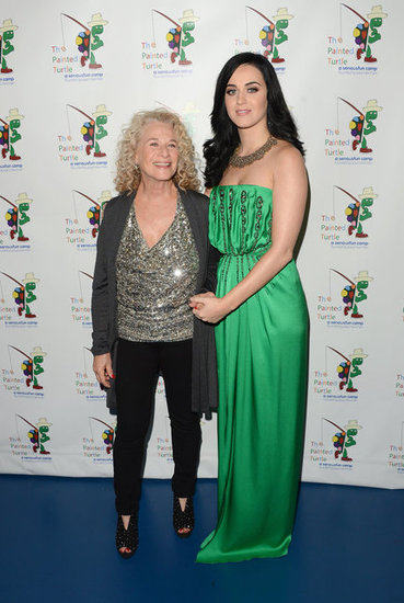 Katy Perry linked up with Carole King at a charity dinner in LA.