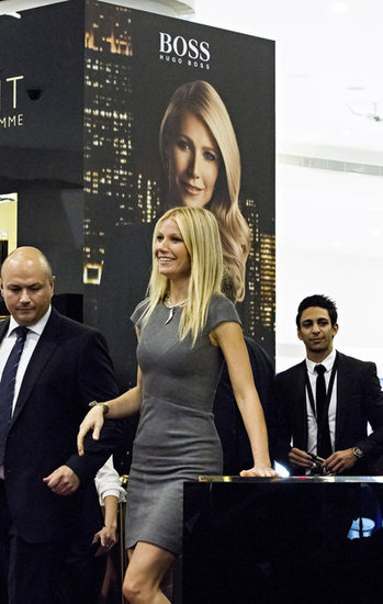 Gwyneth Spends Her Wedding Anniversary With Hugo Boss in Dubai