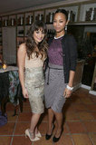 Lea Michele and Zoe Saldana posed for photos at the Marie Claire Hollywood Dinner in LA.