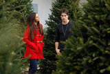 Ian Somerhalder and Nina Dobrev picked out a Christmas tree.