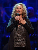 Carole King sang at a benefit concert honoring her.