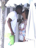 Jay-Z and Beyoncé Knowles shared a sweet kiss during a getaway to the South of France in September 2012.