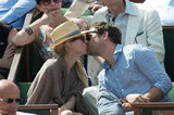 Diane Kruger and Joshua Jackson shared a romantic moment while watching the French Open in May.