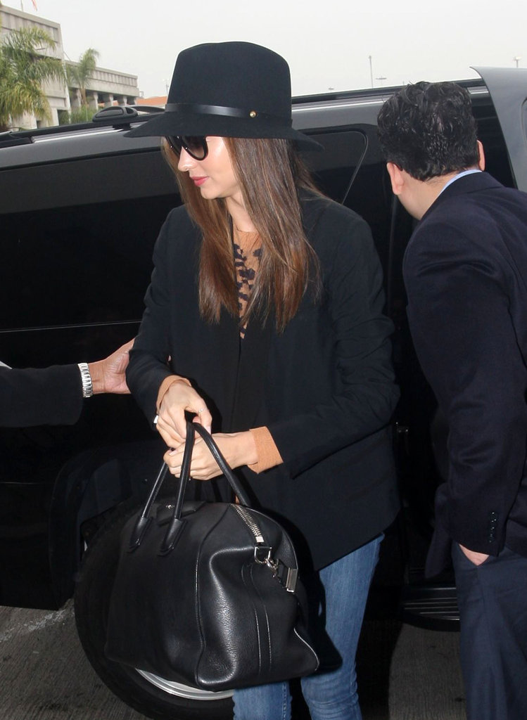 Miranda Kerr caught a flight at LAX.