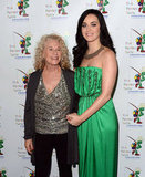 Katy Perry Gets Glam in Green For a Charitable Event With Alicia Keys