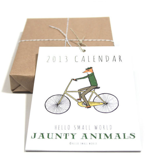 Hello Small World Jaunty Animals Calendar